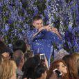 Le styliste Raf Simons - Défilé Christian Dior collection prêt-à-porter printemps-été 2016 à Paris, le 2 octobre 2015.