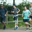 """Exclusif - Harry Styles fait un jogging avant d'aller sur le tournage du film """"Dunkirk"""" à Dunkerque le 16 juin 2016"""