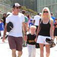 Dennis Quaid et Kimberly Buffington, ensemble, accompagnaient le 18 mars 2013 leur fils Thomas, 5 ans, à son match de baseball, dans le quartier de Brentwood, à Los Angeles.
