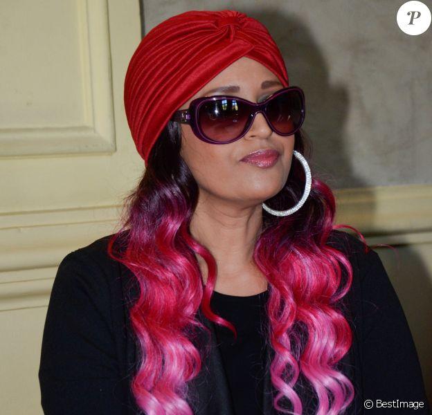 """La chanteuse Lââm - 22ème édition du gala """"Faire Face"""" à l'Opéra du Grand Avignon à Avignon le 10 octobre 2015."""