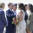 Michelle Obama et ses filles Malia et Sasha arrivent à Madrid le 29 juin 2016.