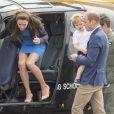 Catherine Kate Middleton, duchesse de Cambridge, Le prince William, duc de Cambridge et leur fils le prince George assistent au Royal International Air Tattoo le 8 juillet 2016.