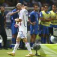 Zinédine Zidane expulsé par Horacio Elizondole 9 juillet 2006 lors de la finale de la Coupe du Monde 2006 à Berlin