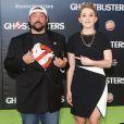 Kevin Smith et sa fille Harley Quinn - Célébrités lors de la première de Ghostbuster à Hollywood le 9 juillet 2016.