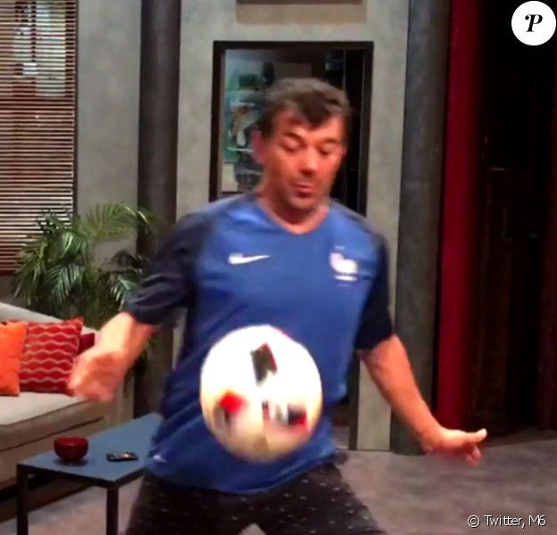 Stéphane Plaza est le supporter le plus maladroit des Bleus ! Juillet 2016.