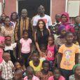 Mamadou et Majda Sakho en voyage humanitaire avec leur fondation AMSAK, début juillet 2016