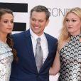 Alicia Vikander, Matt Damon et Julia Stiles- Avant-Première du film Jason Bourne à Londres le 11 juillet 2016