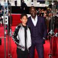 Ozwald Boateng et son fils Oscar Boateng- Avant-Première du film Jason Bourne à Londres le 11 juillet 2016