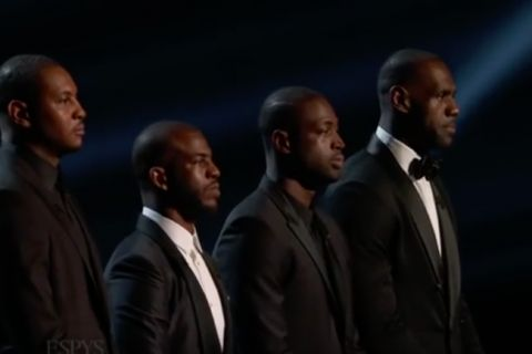 LeBron James, Carmelo Anthony, Dwyane Wade, Chris Paul : Dream team en mission