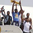 LeBron James et les Cleveland Cavaliers lors de la célébration de leur titre de champions de la NBA avec la ville le 22 juin 2016
