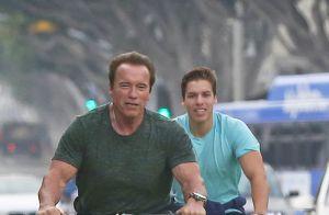 Arnold Schwarzenegger : Tout roule avec son fils illégitime Joseph, mini-sosie