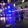 Exclusif - Terrible attentat à Nice sur la promenade des Anglais après le feu d'artifice lors de la fête nationale du 14 juillet 2016. Dès la fin du feu d'artifice, un homme au volant d'un camion blanc a foncé dans la foule sur près de 2 kilomètres et a tué plus 84 personnes.