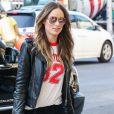 Olivia Wilde fait du shopping dans les rues de New York, le 14 avril 2016