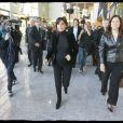 Rachida Dati et Nathalie Kosciusko-Morizet à Cernay (Haut-Rhin) le vendredi 14 novembre dans la matinée. Rencontre débat avec les habitants de quartier.
