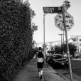 Théo, le petit-frère d'Antoine Griezmann, sur Sunset Boulevard à Los Angeles, le 20 juillet 2016.