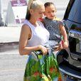 Gwen Stefani emmène ses enfants Kingston, Zuma Rossdale et Apollo à l'église à Los Angeles, le 5 juin 2016