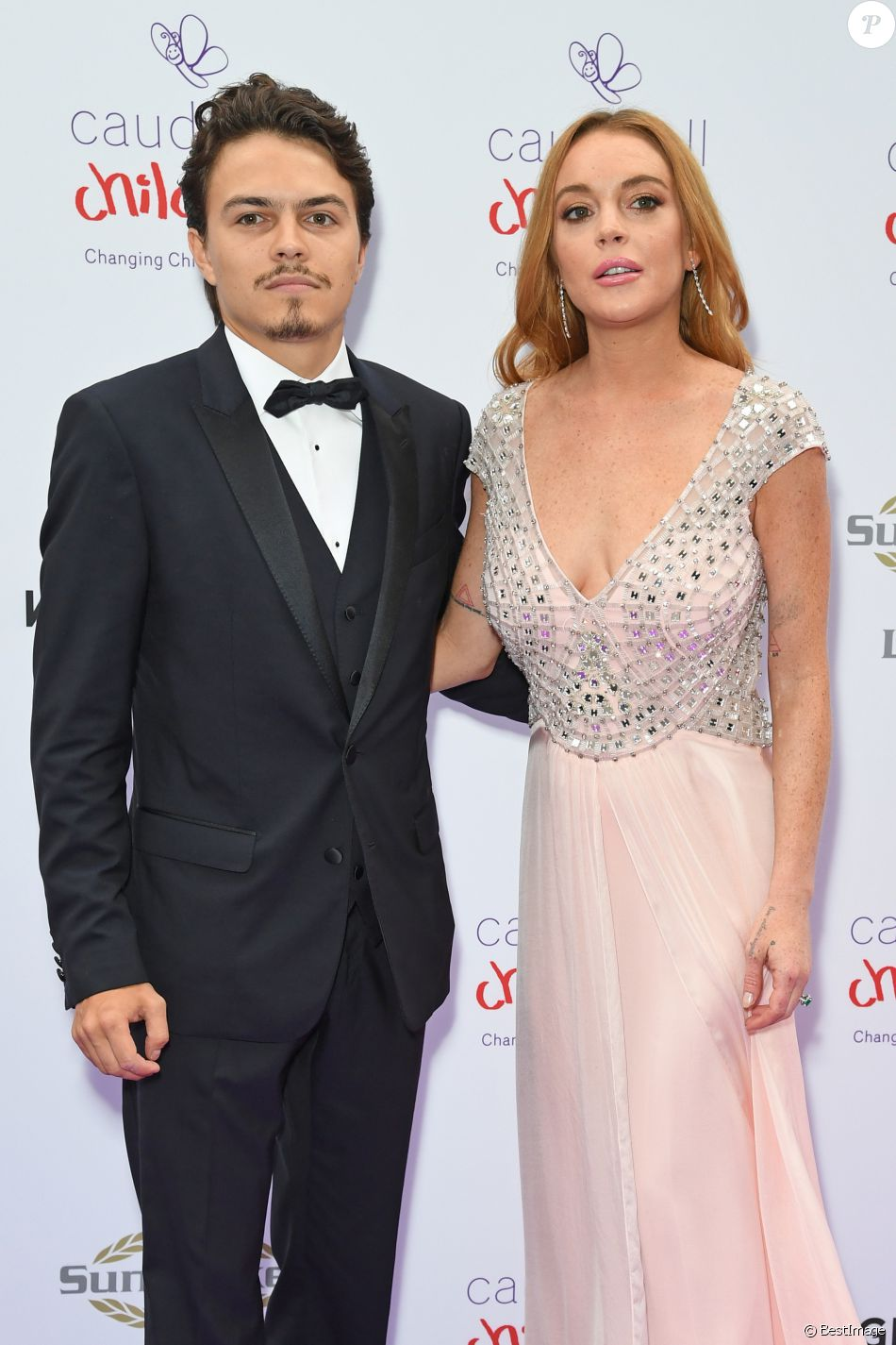 "Lindsay Lohan et son compagnon Egor Tarabasov - People au ""Butterfly Ball"" au profit de l'association caritative ""Caudwell Children"" au Grosvenor House Hotel à Londres. Le 22 juin 2016"