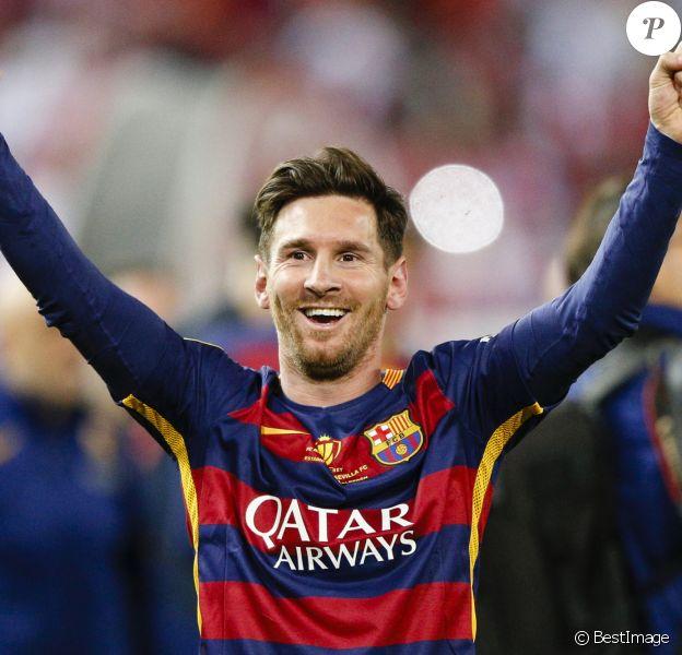 Lionel Messi - Le FC Barcelone remporte la Coupe du Roi contre Séville et s'offre le doublé à Madrid en Espagne le 22 mai 2016.