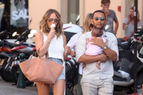 Chrissy Teigen, John Legend et Luna : Petite famille comblée à Saint-Tropez