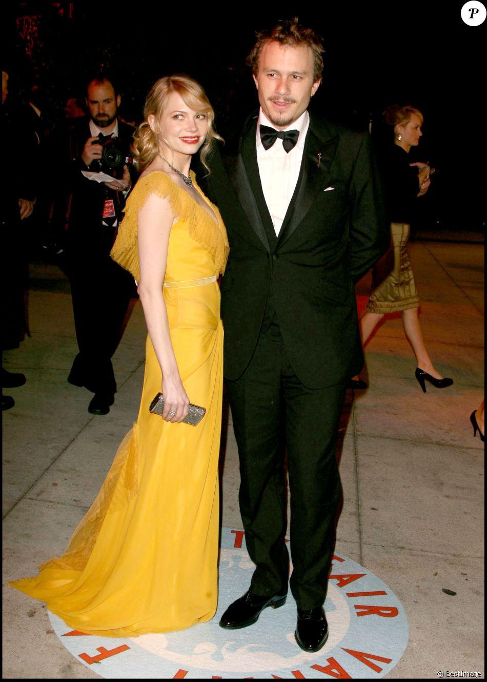 Heath Ledger et Michelle Williams à la Vanity Fair Oscar Party en mars 2006.