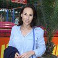 Vanessa Demouy à l'inauguration de la fête des Tuileries organisée par Caroline Barclay, le 24 juin 2016