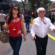 Bernie Ecclestone et sa femme Fabiana Flosi - People lors du Grand Prix de Formule 1 de Monaco, le 28 mai 2016.