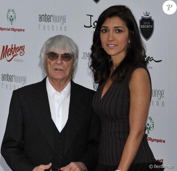 Bernie Ecclestone et Fabiana Flosi à Monaco le 25 mai 2012