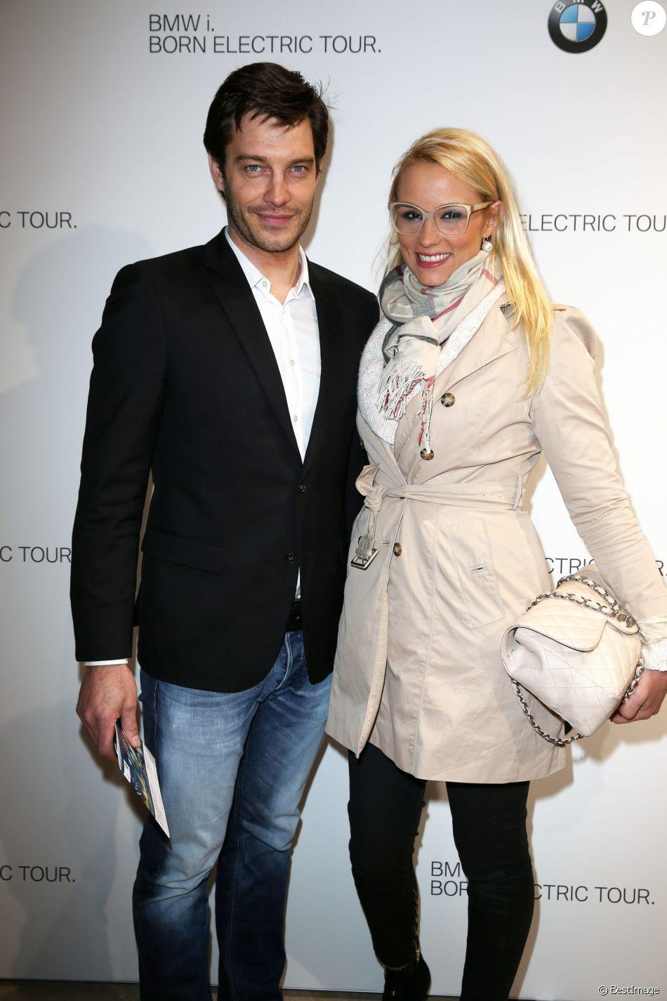 Elodie gossuin et son mari bertrand lacherie bmw i tour a paris le 3 avril 2013 - Elodie gossuin et bertrand lacherie ...