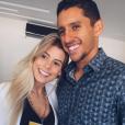 Marquinhos et son épouse Carol Cabrino
