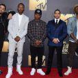 O'Shea Jackson Jr., Corey Hawkins, Jason Mitchell, Neil Brown Jr - Cérémonie des MTV Movie Awards 2016 à Los Angeles le 9 avril 2016.