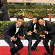 """Les acteurs du film """"Straight Outta Compton"""", Corey Hawkins, Jason Mitchell, Marlon Yates, Jr., Aldis Hodge et O'Shea Jackson, Jr. - 22e """"Annual Screen Actors Guild Awards"""" à Los Angeles le 30 janvier 2016. © CPA / BESTIMAGE"""