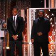 O'Shea Jackson Jr., Jason Mitchell et Corey Hawkins aux 19e Hollywood Film Awards. Le 1er novembre 2015.