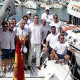 Le roi Felipe VI d'Espagne au Club royal nautique de Palma de Majorque lors de la 35e édition de la Copa del Rey, le 5 août 2016.
