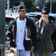 Kylie Jenner et son petit ami Tyga sont allés prendre leur petit déjeuner à 'Lovi's Delicatessen' à Calabasas, le 1er novembre 2015