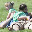 Mike Tindall et sa fille Mia au British Eventing Festival qui a lieu dans le parc de Gatcombe. Stroud, Angleterre, le 6 août 2016.