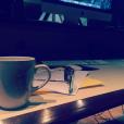 Amel Bent en studio d'enregistrement. Photo publiée sur Instagram, le 7 août 2016