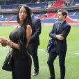 Aurah Ruiz, la compagne de Jesé Rodriguez au Parc des Princes à Paris, le 8 août 2016. © Marc Ausset-Lacroix/Bestimage