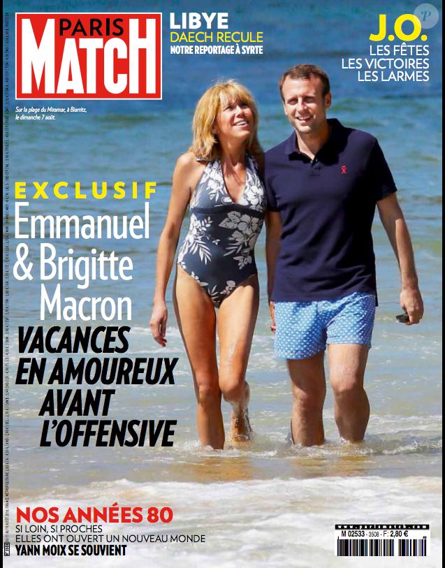 """Couverture du magazine """"Paris Match"""" en kiosque jeudi 11 août 2016"""