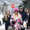 """""""Conrad et Paris ainsi que leur soeur Nicky Hilton à Aspen, le 21 décembre 2011"""""""