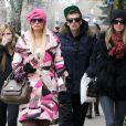 Conrad et Paris ainsi que leur soeur Nicky Hilton à Aspen, le 21 décembre 2011