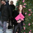 Carla Bruni-Sarkozy - Sortie des people du défilé Haute Couture Schiaparelli Printemps-Eté 2016 à Paris, le 25 janvier 2016.