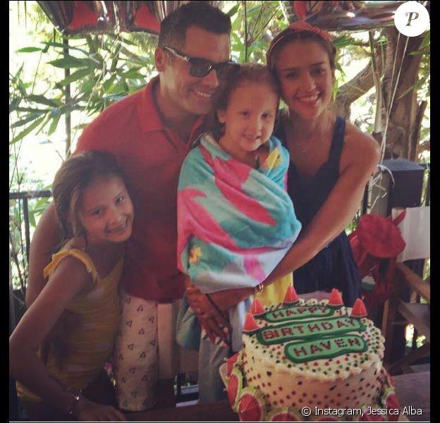 Jessica Alba en famille à l'occasion de l'anniversaire de sa fille Haven