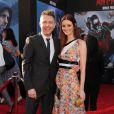 """Chris Hardwick et Lydia Hearst - Première du film """"Ant-Man"""" à Hollywood. Le 29 juin 2015"""