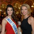 Exclusif - Iris Mittenaere, Miss France 2016 et Sylvie Tellier au déjeuner du Chinese Business Club pour la journée internationale des femmes autour de son ambassadrice Sophie Marceau à l'hôtel Intercontinental à Paris le 8 mars 2016. © Rachid Bellak / Bestimage