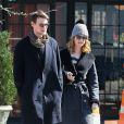 Exclusif - Matt Smith et sa petite amie Lily James à New York, le 3 mars 2016.