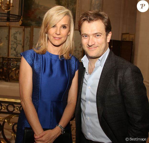 """Laurence Ferrari et son mari Renaud Capuçon - Photocall de la cérémonie des """"GQ 2015, Les Hommes de l'Année"""" au Shangri-La Hotel à Paris, le 25 janvier 2016."""