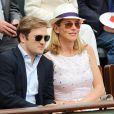 Laurence Ferrari et son mari Renaud Capucon - Jour 8 - People aux Internationaux de France de tennis de Roland Garros a Paris le 2 juin 2013.