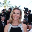"""Laurence Ferrari (robe Paule Ka) et son mari Renaud Capuçon - Montee des marches du film """"Le Passe"""" lors du 66 eme Festival du film de Cannes le 17 mai 2013"""