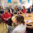 Le prince William et Kate Middleton visitent un centre d'assistance caritatif à Londres le 25 août 2016.