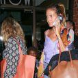 Heidi Klum de sortie avec ses enfants au restaurant Mr. Chow à Los Angeles le 26 août 2016
